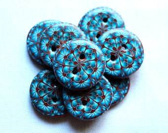 Blue and Bronze Button 1 inch button No. 283