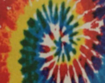Tie-dye jumbo beach towel embroidered with name