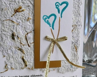 Handmade Wedding or Anniversary Card with a Quote