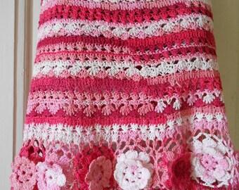 Crochet Skirt Gypsy Skirt Cotton Skirt Summer Skirt Summer Forever  FREE SHIPPING