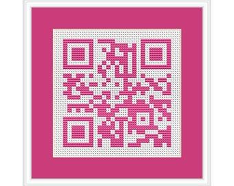 Happy Mother's Day QR Code PDF Cross Stitch Chart