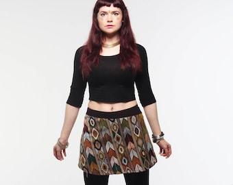 Gypsy boho skirt, hippie skirt, wrap around skirt, rave clothing hers, pixie skirt, festival wear hers, boho skirt, street style, mini skirt