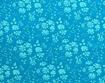 Liberty fabric Tana Lawn Capel D- 9''x26'' Fat Eighth - Dark turquoise- Classic Collection