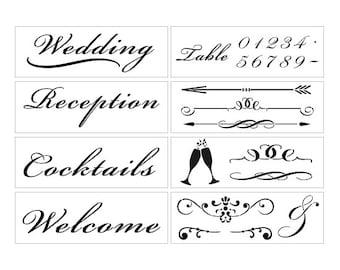 Ballroom Wedding Stencil Kit