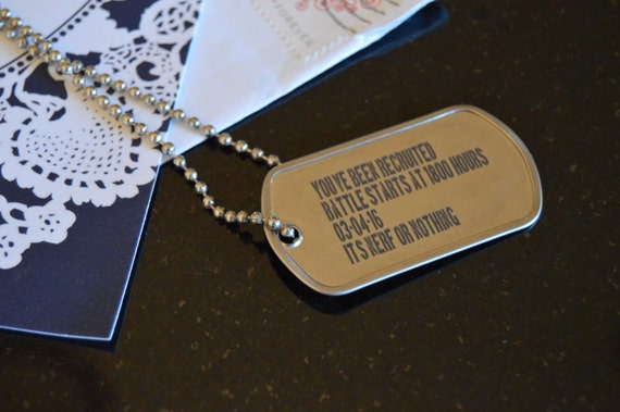 custom invitation dogtags customized dog tags with optional