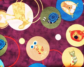 Animal pattern cotton fabric