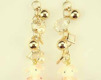 Bunny ballerina earrings