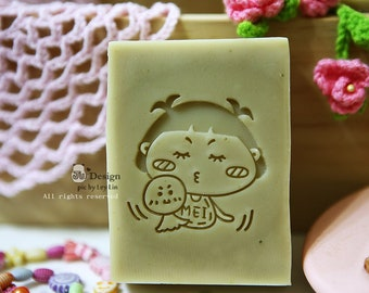 Ju Design Soap Stamp--Baby collection – Give me a kiss  (NO.JU003)