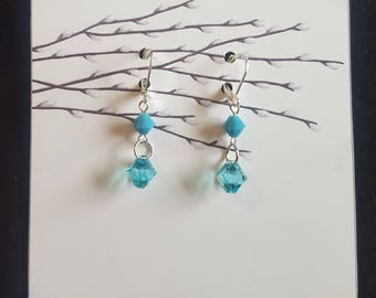 Turquoise Swarovski Earrings