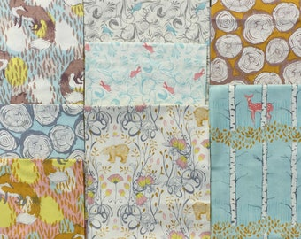 Timber and Leaf Sarah Watts Blend fabrics 8 FQ set oop vhtf Please Read