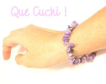 Charoite Baroque bracelet