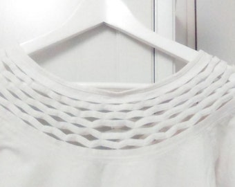 Top white sleeves 3/4 - size 36/S/1