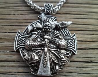 Odin with ravens viking pendant viking amulet raven pendant odin with raven viking pendant viking amulet raven pendant scandinavian pendant viking aloadofball Gallery