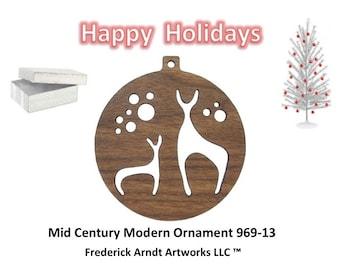 969-13 Mid Century Modern Christmas Ornament