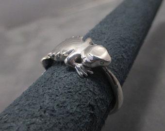 Bearded dragon ring - Sterling silver - Beardie
