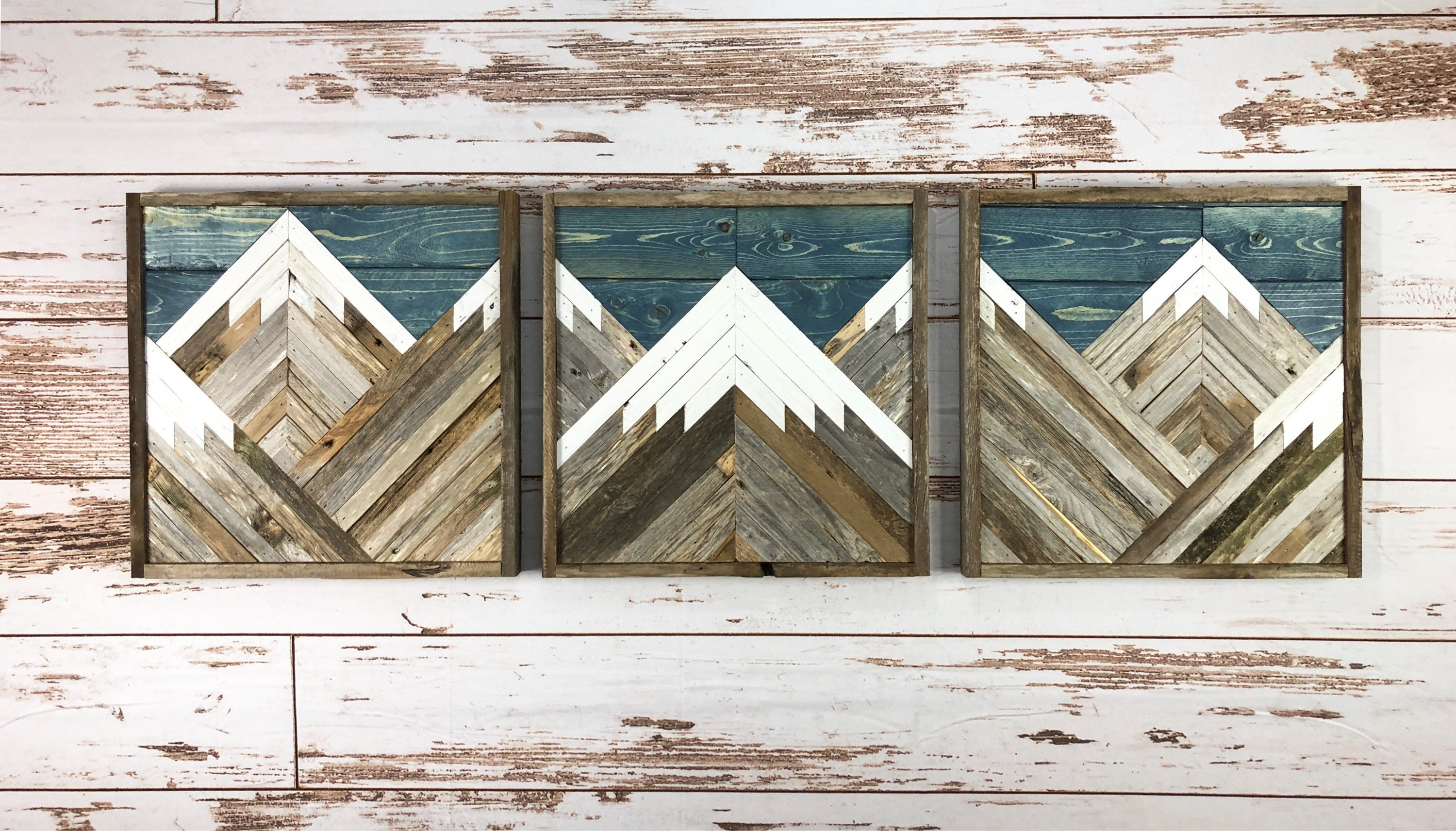 zoom Rustic Mountain Tops With Blue Sky