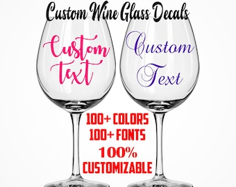Wine glass decal etsy best selling items solutioingenieria Choice Image