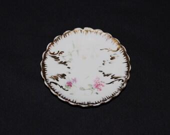 Antique Oscar Schlegelmilch Porcelain Butter Pat Plate  (1402)
