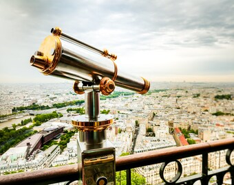 "Paris, Art, Aerial Paris, Rooftops of Paris, Photography, Eiffel Tower View, Paris Skyline, Eiffel Tower Print, Paris Wall - ""City of Light"""
