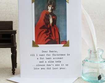 Funny Christmas Card Dear Santa Don't Mix It Up a Sassy Saying