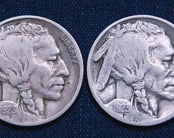 1923 and 1923-S Buffalo Nickels