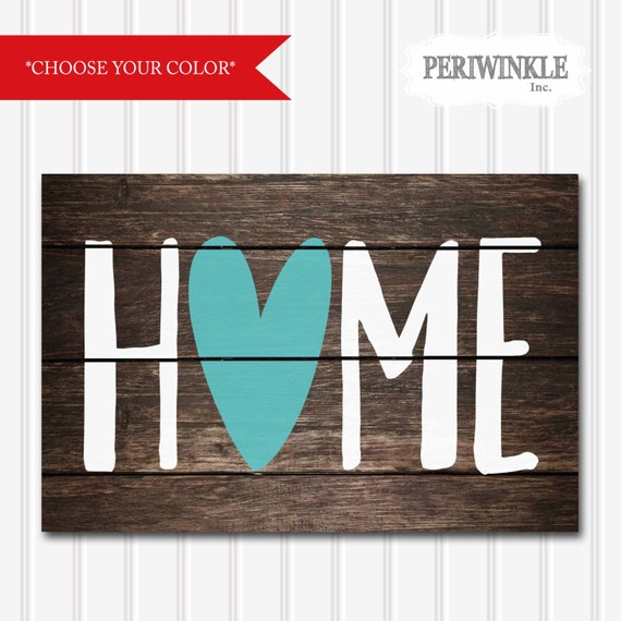 Items similar to HOME-Faux Wood-DIY Printable-Choose Your ...