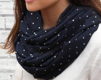 Supersoft Silver Star Personalised Snood (HBS01)