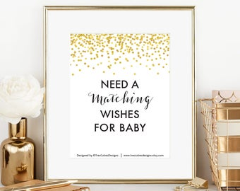 MATCHING Wishes for Baby - Game Card - Baby Shower - To coordinate with any Design in my shop