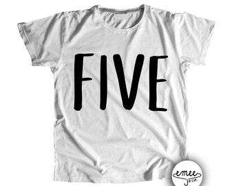 Five Birthday Shirt 5th Birthday Shirt