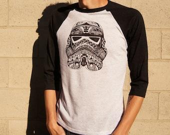 Storm Trooper Printed Unisex Raglan T