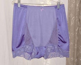 silky Tummy trimmer Brief Panties sz 1xl purple vintage lingerie