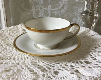 Demitasse Cup & Saucer Tirschenreuth Germany Colonial Pattern 515