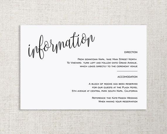 wedding enclosure card template Josemulinohouseco
