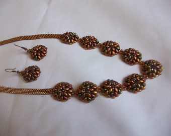Seed beads and super duos necklace