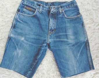 Wrangler shorts in jeans from the 80 s machine Sewn to the correctly, Zip wrangler shorts 1980