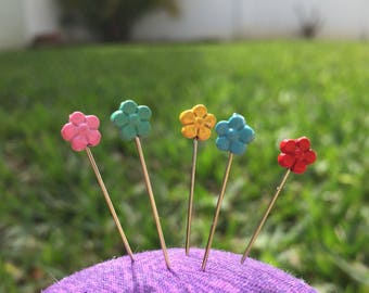 Counting Pins - Flowers - Set of 5