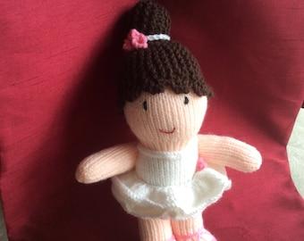 Knitted ballerina doll