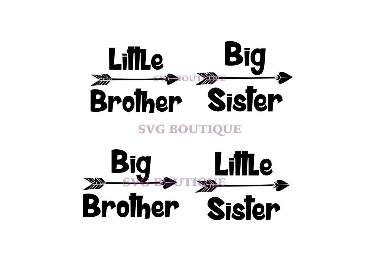 Little Brother Svg Big Brother Svg Big Sister Little