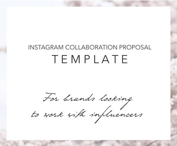 Email Template Instagram Influencer Collaboration Proposal