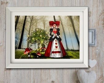 """A4 one of my artwork """"Enchanted heart in the land of the Lilliputian"""" poster."""