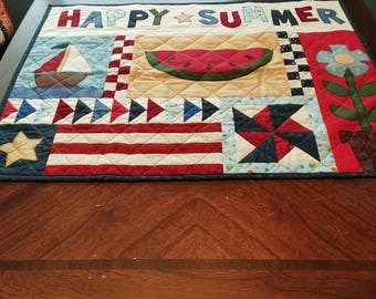 Happy Summer Quilted Wall Hanging