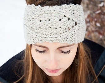 Cabled Crochet Earwarmer - Braided Crochet Headband - Custom Options Available