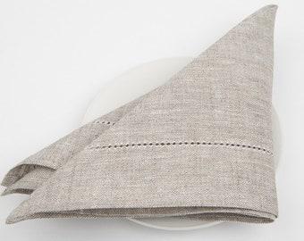 Natural linen napkins, set linen cotton napkins, 10pc, napkins, gray linen napkins, dinner napkins