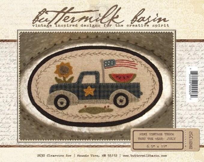 "Pattern: Mini Vintage Truck Thru the Year - July ""Flag"" by Buttermilk Basin"