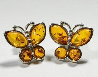 Baltic Amber Earrings, Gemstone earrings,Drop Earrings, Sterling silver earrings