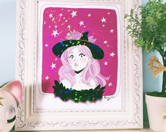 Holographic 8x10 Witch Print UNFRAMED
