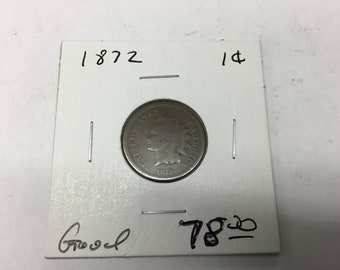 1872 Indian head cent. GOOD condition
