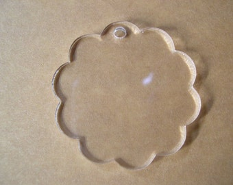 Acrylic Key Chain Blanks Scalloped 10 Keychains, Great for vinyl applications