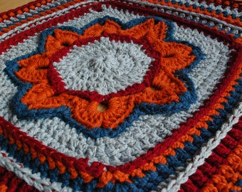 Blanket, wall hanging, afghan, chunky granny square blanket