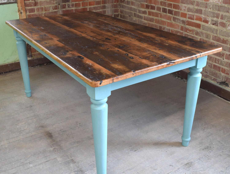 Reclaimed chestnut kitchen farm table handmade in nc custom zoom workwithnaturefo